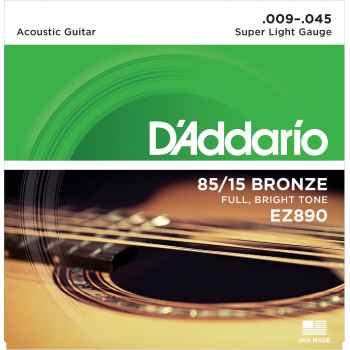 D´addario EZ890 - 85*15 Great American Medium cuerdas para guitarra Acústica